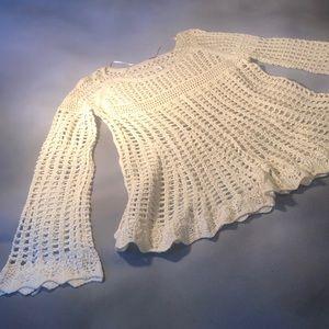 Long sleeve crocheted blouse